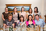 30 ON THE DOUBLE: Jean O'Hara (Ardfert) and Paula Egan (Tralee) (seated centre) both celebrated their 30th birthday's in Bella Bia,Tralee last saturday night. Seated l-r: Donal Tobin, Jean O'Hara , Paula Egan and Damian Farrell. Back l-r: Fiona Butt, Sinead Egan, Claire Kelliher, Karen O'Connor and Elaine Daly.
