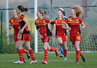 U 16 Belgian red Flames - virginia USA :<br /> <br /> Belgische meisjes feesten na de 1-0 van Julie Veyt<br /> <br /> foto Dirk Vuylsteke / Nikonpro.be