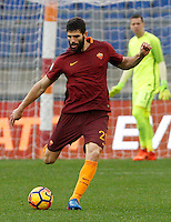 Roma&rsquo;s Federico Fazio in action during the Italian Serie A football match between Roma and Napoli at Rome's Olympic stadium, 4 March 2017. <br /> UPDATE IMAGES PRESS/Riccardo De Luca