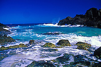 Beautiful halona cove on eastern Oahu, the from here to eternity beach