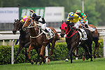 HONG KONG - MAY 04:  Riders compete during the Jordan Handicap at Sha Tin racecourse on May 4, 2014 in Hong Kong, Hong Kong.  Photo by Aitor Alcalde / Power Sport Images