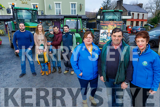 Attending the launch of the 6th annual James Ashe Memorial Tractor Run in Boolteens on Saturday morning and the Tractor run takes place this coming Sunday January 12th, starting with registration at 11am. <br /> Front l to r: Margaret and Francie Ashe with Elizabeth Ryle O'Connor.<br /> Back l to r: Stephen O'Connor. Conor, Tanya, Charlie, Shane Ashe and Johnny Daly.