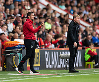 Bournemouth manager Eddie Howe (right) and assistance manager Jason Tindall (left) giving instructions to his team from the technical area<br /> <br /> Photographer David Horton/CameraSport<br /> <br /> The Premier League - Bournemouth v West Ham United - Saturday 28th September 2019 - Vitality Stadium - Bournemouth<br /> <br /> World Copyright © 2019 CameraSport. All rights reserved. 43 Linden Ave. Countesthorpe. Leicester. England. LE8 5PG - Tel: +44 (0) 116 277 4147 - admin@camerasport.com - www.camerasport.com