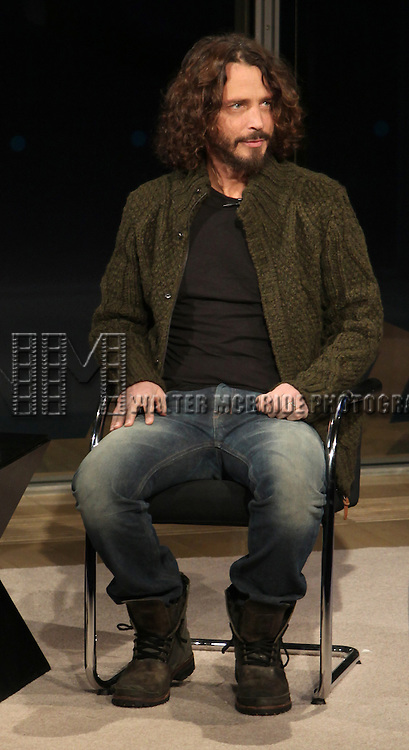 Chris Cornell, interviewed by Jon Pareles, attending the New York Times 11th Annual Arts & Leisure Weekend at Times Center in New York City. 1/7/2012