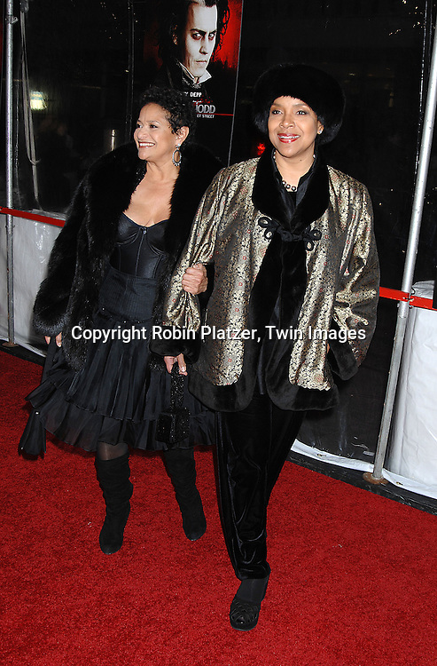 """Debbie Allen and sister Phylicia Rashad.arriving at the New York Premiere of """"Sweeney Todd"""" starring Johnny Deep on December 3, 2007 at The Ziegfeld Theatre in New York City. .Robin Platzer, Twin Images"""