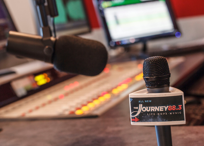 Photos taken for the relaunch of WRVL as The Journey FM.  December 18th, 2014. Photo by David Duncan