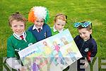 Joe Reidy, Grace O'Mahony, Colette O'Mahony and Dylan Cunningham from Scoil Eoin, Balloonagh enjoying Seachtaine na Gaeilge