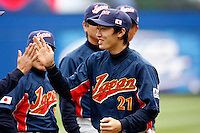 Tsuyoshi Wada of Japan during World Baseball Championship at Angel Stadium in Anaheim,California on March 12, 2006. Photo by Larry Goren/Four Seam Images