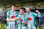 Diarmuid O'Connor, Ryan  O'Neill and Kieran Dineen Na Gaeil celebrate  after defeating Mullinahone in the Munster Junior Championship final on Sunday