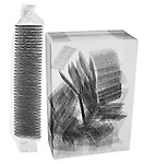 X-ray image of packaged crackers (black on white) by Jim Wehtje, specialist in x-ray art and design images.