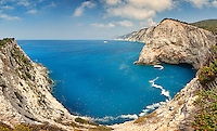 Wild beautiful bay near Porto Katsiki in Lefkada, Greece