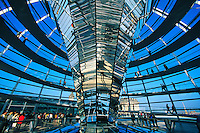 Reichstagsuppel (glass dome on top of the Bundestag Building), Berlin, Germany