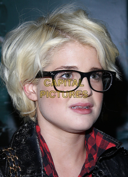 "KELLY OSBOURNE .Attending the Launch of The ""Tarina Tarantino Beauty"" Cosmetic Collection presented Exclusively at Sephora,.Hollywood, California, USA,.24th February 2010..portrait headshot glasses geek frames black .CAP/ADM/KB.©Kevan Brooks/AdMedia/Capital Pictures."