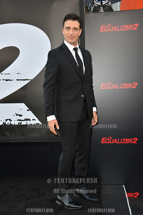 Antoine de Lartigue at the premiere for &quot;The Equalizer 2&quot; at the TCL Chinese Theatre, Los Angeles, USA 17 July 2018<br /> Picture: Paul Smith/Featureflash/SilverHub 0208 004 5359 sales@silverhubmedia.com