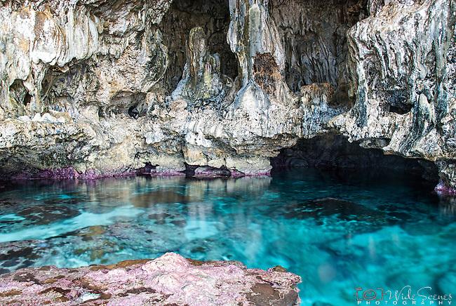 Sea pools near Avaiki cave on the island of Niue.