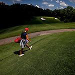 STILLWATER, OK - MAY 23: Gigi Stoll of Arizona makes her way to down the fairway during the Division I Women's Golf Team Match Play Championship held at the Karsten Creek Golf Club on May 23, 2018 in Stillwater, Oklahoma. (Photo by Shane Bevel/NCAA Photos via Getty Images)