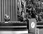 """New York, NY - (FILE) -- United States Senator Edward M. """"Ted"""" Kennedy (Democrat of Massachusetts) delivers the keynote speech at the 1980 Democratic National Convention in New York, New York on Tuesday, August 12, 1980.  Kennedy challenged incumbent President Jimmy Carter for his party's 1980 nomination.  Kennedy ended his speech with the words """"For me, a few hours ago, this campaign came to an end. For all those whose cares have been our concern, the work goes on, the cause endures, the hope still lives, and the dream shall never die."""".Credit: Arnie Sachs / CNP"""