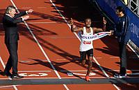 Nederland - Amsterdam - 2017 . De Marathon van Amsterdam. Abdi Nageeye heeft zondag het Nederlands record op de marathon verbeterd in de Amsterdam Marathon.  Foto Berlinda van Dam / Hollandse Hoogte