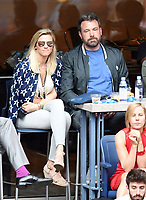 FLUSHING NY- SEPTEMBER 10: Lindsay Shookus and Ben Affleck at the US Open Men's Final Championship match at the USTA Billie Jean King National Tennis Center on September 10, 2017 in Flushing, Queens. <br /> CAP/MPI/PAL<br /> &copy;PAL/MPI/Capital Pictures