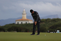 Rhys Enoch (WAL) on the 17th green during Round 4 of the Challenge Tour Grand Final 2019 at Club de Golf Alcanada, Port d'Alcúdia, Mallorca, Spain on Sunday 10th November 2019.<br /> Picture:  Thos Caffrey / Golffile<br /> <br /> All photo usage must carry mandatory copyright credit (© Golffile | Thos Caffrey)