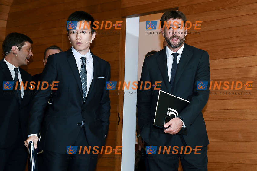 Steven Zhang-Andrea Agnelli <br /> Milano 19/09/2019 - convegno Financial Fair Play / Photo Daniele Buffa/Image Sport/Insidefoto