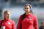Cary, NC - Saturday October 21, 2017: Alex Morgan during a United States (USA) Women's National Team training session at Sahlen's Stadium at WakeMed Soccer Park.