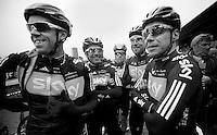 Kuurne-Brussel-Kuurne 2012<br /> Team SKY has a boysband: The Shady boys