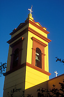 Steeple of a restored church  in old Mazatlan, Sinaloa, Mexico