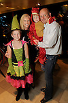 Ashley and Chapman Mannschreck with Campbell,9, and Colt,4, at the M.D. Anderson Halloween party at The Galleria Sunday Oct 25, 2015.(Dave Rossman photo)