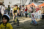 Tour de France Champion Geraint Thomas (WAL) Team Sky finds the competition tough during a short race for the fans at the media day before the 2018 Saitama Criterium, Japan. 3rd November 2018.<br /> Picture: ASO/Pauline Ballet | Cyclefile<br /> <br /> <br /> All photos usage must carry mandatory copyright credit (&copy; Cyclefile | ASO/Pauline Ballet)