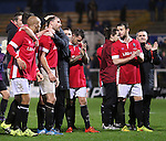 The Salford City Team appreciating their traveling support - Emirates FA Cup Second Round Replay - Hartlepool vs Salford City - Victoria Park - Hartlepool - England - 15th of December 2015 - Picture Jamie Tyerman/Sportimage