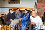 Richie Houlihan of  the An Shebeen Bar on Rock St, helped  the Feraru family by giving them shelter from the street and the elements on Thursday and Friday night last. <br /> L to r: Mariar, Alexandra and Tulia Feraru with Nicola Canty from the An Shebeen.