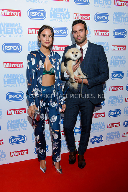 www.acepixs.com<br /> <br /> September 7 2017, London<br /> <br /> Lucy Watson and James Dunmore attending the Animal Hero Awards 2017 on at the Grosvenor Hotel on September 7 2017 in London<br /> <br /> By Line: Famous/ACE Pictures<br /> <br /> <br /> ACE Pictures Inc<br /> Tel: 6467670430<br /> Email: info@acepixs.com<br /> www.acepixs.com