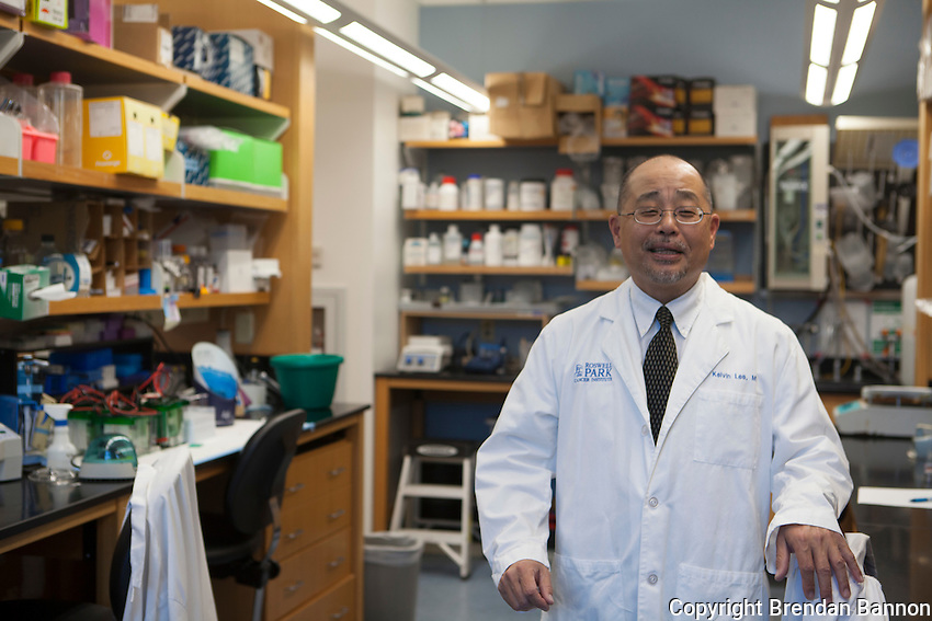 Dr. Kelvin Lee at Roswell Park Cancer Institute is running the study on lung cancer drug, CimaVax. Buffalo, NY 11/10/2016 Photo by Brendan Bannon
