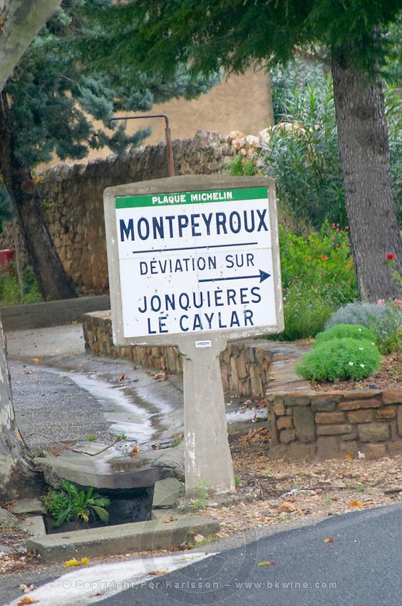 Montpeyroux, deviation detour over Jonquieres le Caylar. Montpeyroux. Languedoc. France. Europe.