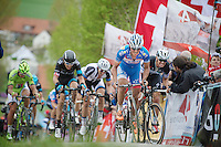 Bjorn Leukemans (BEL/Wanty-GroupeGobert) up the Paterberg<br /> <br /> Ronde van Vlaanderen 2014