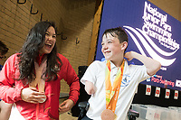 Picture by Richard Blaxall/SWpix.com - 14/04/2018 - Swimming - EFDS National Junior Para Swimming Champs - The Quays, Southampton, England - Local swimmer Alice Tai returns from the Commonwealth Games for England with a Gold Medal in the 100m Backstroke S10 and a Silver Medal in the 100m Freestyle S9 and speaks with competitors