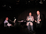 Marc Shaiman, Seth Rudetsky and Huner Bell performing at the Seth Rudetsky Book Launch Party for 'Seth's Broadway Diary' at Don't Tell Mama Cabaret on October 22, 2014 in New York City.