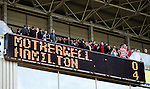 Hamilton fans file out of Fir Park after putting four goals past Motherwell