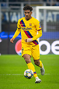 MILAN, ITALY - DECEMBER 10: Jean-Clair Todibo of FC Barcelona during the UEFA Champions League group F match between Inter and FC Barcelona at Giuseppe Meazza Stadium on December 10, 2019 in Milan, Italy. (Photo by David Lidström Hultén/LPNA) ***BETALBILD***