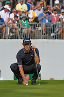 Patrick Cantlay (USA) lines up his long birdie attempt on 18 during Rd4 of the 2019 BMW Championship, Medinah Golf Club, Chicago, Illinois, USA. 8/18/2019.<br /> Picture Ken Murray / Golffile.ie<br /> <br /> All photo usage must carry mandatory copyright credit (© Golffile | Ken Murray)