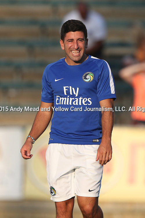22 August 2015: Cosmos assistant coach Alecko Eskandarian. The Carolina RailHawks hosted the New York Cosmos at WakeMed Stadium in Cary, North Carolina in a North American Soccer League 2015 Fall Season match. Cosmos won the game 3-1.