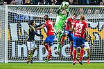 Solna 2013-09-30 Fotboll Allsvenskan AIK - &Ouml;sters IF :  <br /> AIK m&aring;lvakt goalkeeper 13 Kyriakos Stamatopoulos plockar ner ett inl&auml;gg<br /> (Foto: Kenta J&ouml;nsson) Nyckelord: