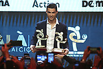 Cristiano Ronaldo of Juventus with a The player of the Year award for 2019 and a best Striker pictured at the The Italian Footballers Association Grand Gala of Football at the Megawatt Court, Milan. Picture date: 2nd December 2019. Picture credit should read: Jonathan Moscrop/Sportimage
