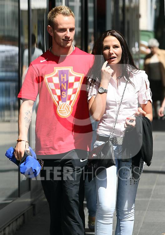 24.05.2010.,Zagreb - Football player Ivan Rakitic (FC Schalke 04) and his girlfriend Iskra Savcic walked through the city together..Photo: Jurica Galoic / nph .