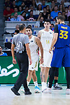 Facundo Campazzo (w) and Mirotic (b) during Real Madrid vs FC Barcelona final of Supercopa Endesa. September 22, 2019. (ALTERPHOTOS/Francis González)