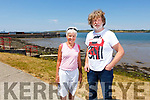 Maria Geoghegan and Tom Moore at the Glin Pier where the annual Estaury charity swim in its 22nd year will tale place.