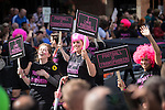 "© Joel Goodman - 07973 332324 . 23/08/2014 .  Manchester , UK . Group campaigning to eliminate homophobia and transphobia from football . The parade through Manchester City Centre . Manchester Pride "" Big Weekend "" in Manchester "" today ( 23rd August 2014 ) . Photo credit : Joel Goodman"