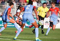 Boyds, MD - Saturday May 14, 2016: Washington Spirit forward Crystal Dunn (19) during a regular season National Women's Soccer League (NWSL) match at Maureen Hendricks Field, Maryland SoccerPlex. The Washington Spirit defeated the Houston Dash 1-0.