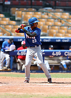 Delvid Alvis participates in the MLB International Showcase at Estadio Quisqeya on February 22-23, 2017 in Santo Domingo, Dominican Republic.